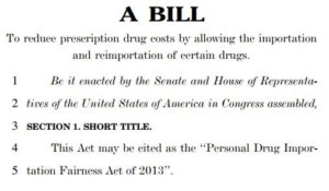 Personal Drug Importation Fairness Act of 2013